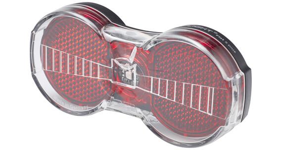 Busch + Müller Toplight Flat S plus Dynamo-Rücklicht schwarz/rot